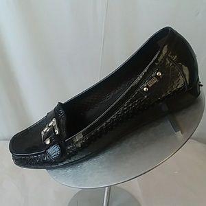 Stuart Weitzman Black Patent Loafers Sz 10.5